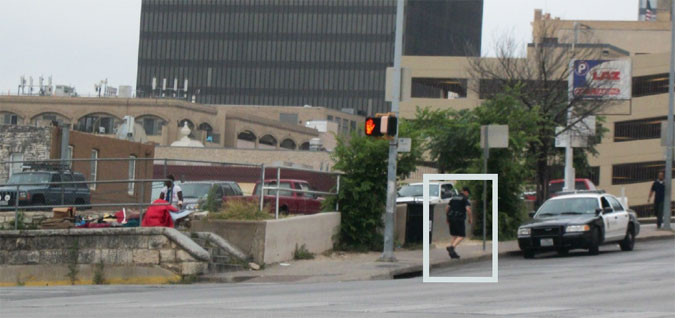 APD Officer near ARCH on E. 7th