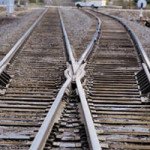 intersecting railroad tracks