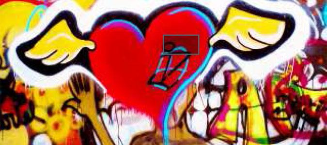Heart on Hope Art Wall